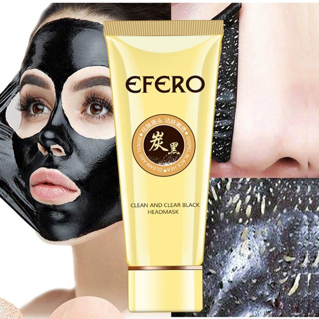 EFERO Blackhead Remover Face Mask Acne Treatment Pore Strip Nose Face Black Mask Peeling Black Head Deep Clean Skin Care 60G Skin Care