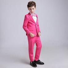 Spring Flower Boy Piano Wedding Party Birthday Costumes Kids Blazer Children Tuxedo Dress Suits Set H461
