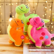 New 20CM Mini Dinosaur Anime Stuffed Plush Dolls chain Pendant Fluffy Ornament Keychain Cartoon Soft Toys Cute Gifts
