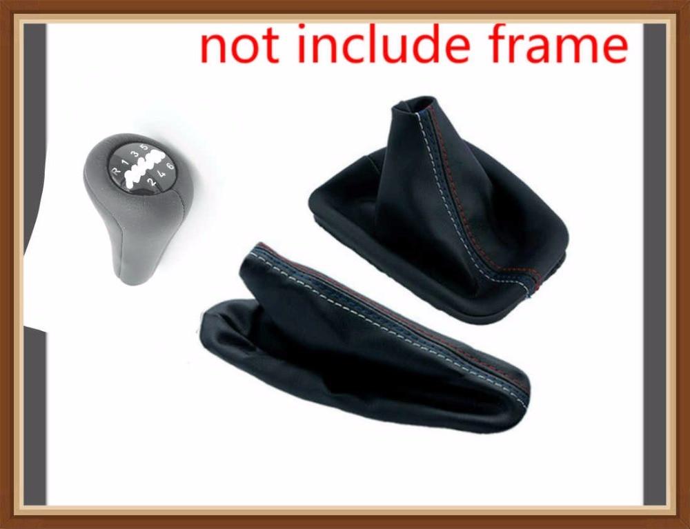 free ship Car Shift Gears Sticks Manual Handbrake Gaiter Shift Boot Black Leather Boot For BMW 3 Series E36 E46 M3 Car Styling gear stick shift gear car shift gear - title=