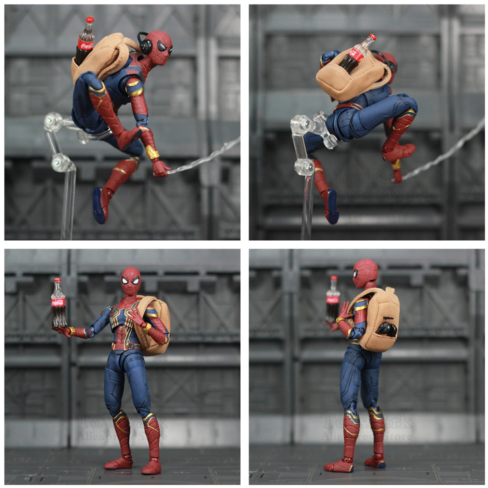 """Image 4 - Marvel Avengers Iron Spider Man 6"""" Movie Action Figure Tom Holland Legends Spiderman Far From Home Endgame Toys Doll KO's SHF-in Action & Toy Figures from Toys & Hobbies"""