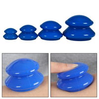 4Pcs Set Moisture Absorber Anti Cellulite Vacuum Cupping Cup Silicone Family Facial Body Massage Therapy Cupping