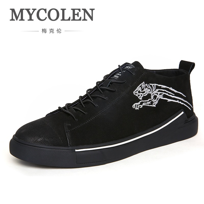 MYCOLEN 2018 Men Shoes Canvas Minimalist Design Shoes Flats Brand Casual Durable Shoes Fashion Lace up Men shoes sapatos simple smiley face and lace up design men s casual shoes