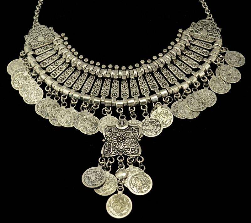 Gypsy Bohemian Beachy Chic Multi Layered Coin Necklace Festival - Κοσμήματα μόδας - Φωτογραφία 2