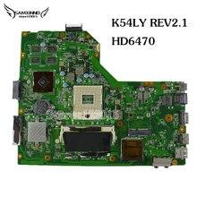 Оригинал для asus motherboard k54hr x54hr k54ly rev 2.1 hd6470 1 г ноутбук mainboard работать идеально & гарантированность 45 дней