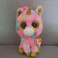Ty Beanie Boo Fantasia Unicorn Penguin Dragon Wolf Cat Fox Dog Rabbit  Giraffe Panda Kangaroo Plush Toy Doll Stuffed Plush Animal 0aef8fbcbb4