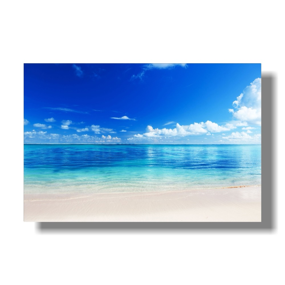 Unframed Nordic Style Seascape Posters Kids Room Decor Beach Sea Waves Pictures Sunrise Seascape Poster Office Decor