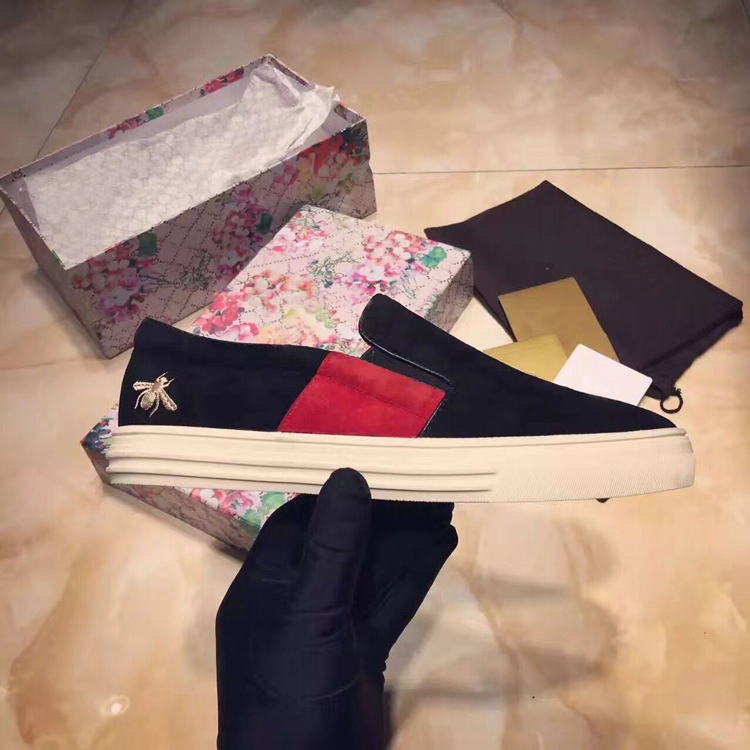 Daim Peu Conception Pic Zapatos Femme Casual Confortable Sur Broder as Appartements Bout Mocassins Chaude S As En Abeille Chaussures Rond Pic Profonds Slip Mujer wzqPPg