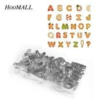 Hoomall 5-9 cm Büyük 26 Mektuplar Alfabe Paslanmaz Çelik Çerez Kesiciler Bisküvi Kalıp Kek Dekorasyon Fondan Meyve Kesme aracı