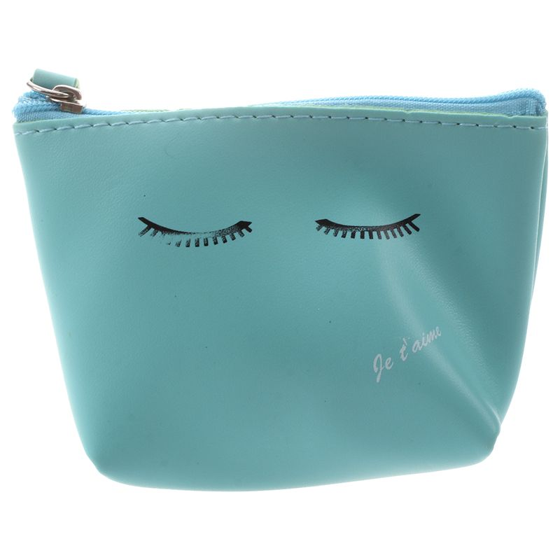Женский милый кожаный кошелек на молнии для монет, кошелек, сумка для мелочи, брелок, держатель для карт, синий мигание - Цвет: Blue