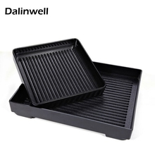 Unbreakable Melamine Snack Bar BBQ Spare Barbecue Plate Grill Tray Cuisine Chafing Baking Dish Fried Chicken Pork Chop Plate New