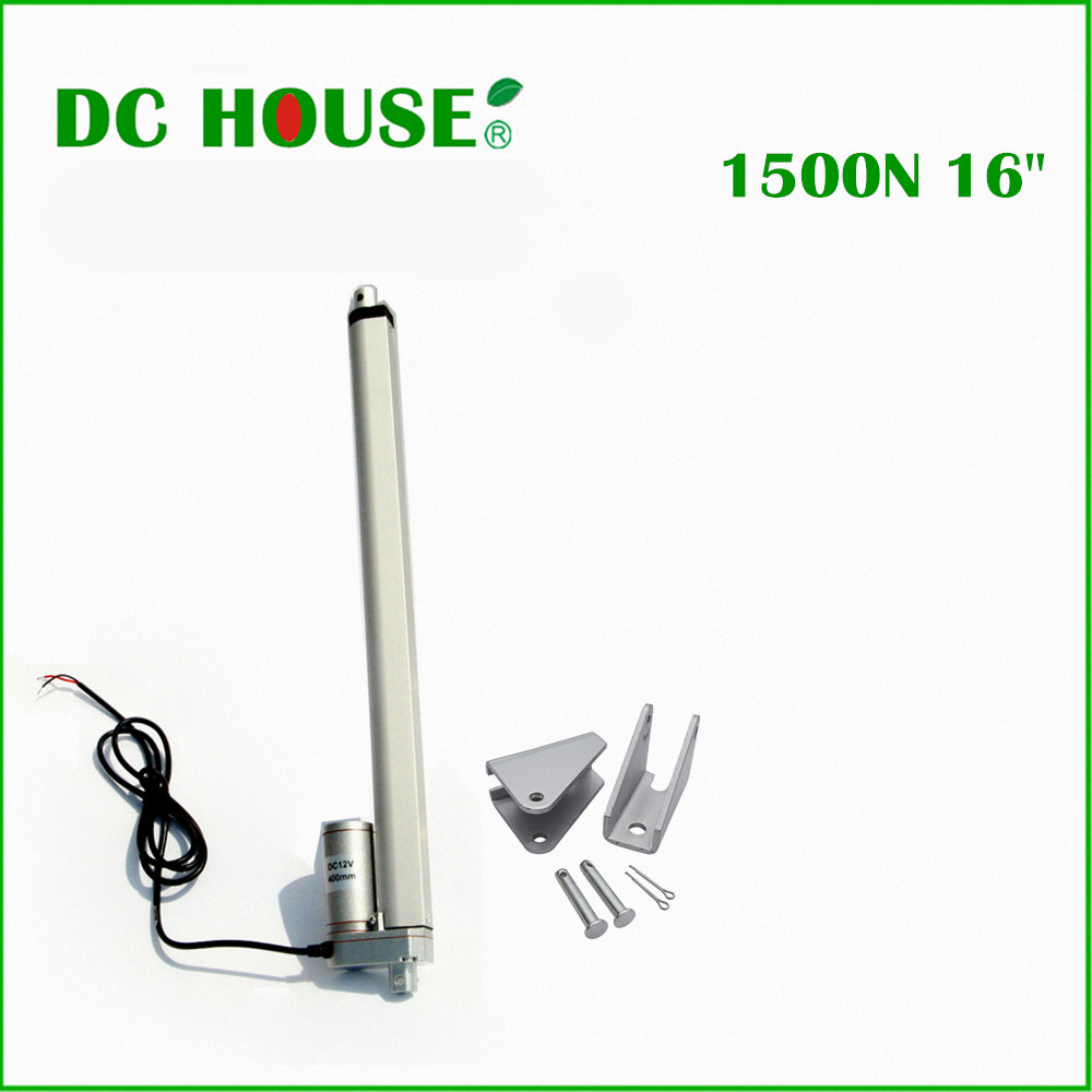 2PCS 400mm/16inch Stroke Heavy duty DC 12V 1500N/330lbs multi-function 16 with feedback potentiometer linear actuator 400mm multi function linear actuator motor stroke heavy duty dc 12v 75kg 165lbs reliable performance