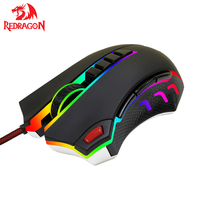 Redragon M802 Laser Gaming Mouse High Precision 24000 DPI 10 Programmable Buttons Gamer Mouse Ergonomic design for Mice gamer