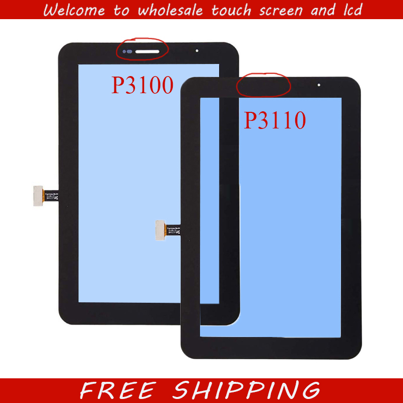 New 7'' inch Touchscreen for Samsung Galaxy Tab 2 7.0 P3100 P3110 Tablet Touch screen Digitizer panel Glass case for samsung galaxy tab 2 p3100 p3110 7 0 cover cartoon pu leather stand cover for samsung galaxy tab 2 7 0 p3100 p3110 case