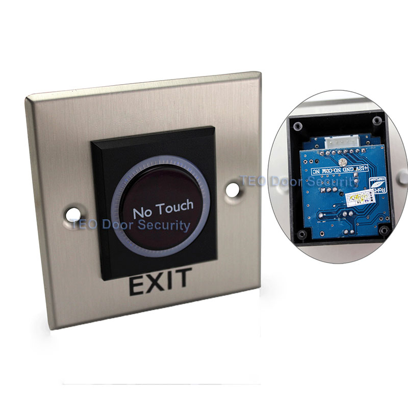 Sensing 20cm infrared Door Exit Button Lighting Buttons for Door Exit with LED Indicator High Quality Stainless Steel Switch exit wound