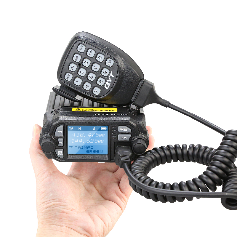 Mini Walkie Talkie Upgraded Version QYT KT-8900D Dual band 144/440MHZ Mobile radio 25Watts Large LCD Display KT8900D+CableMini Walkie Talkie Upgraded Version QYT KT-8900D Dual band 144/440MHZ Mobile radio 25Watts Large LCD Display KT8900D+Cable
