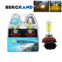 H11 Yellow 12V 55W Halogen Bulbs H11 Yellow Bulbs Xenon 2700K UV Stop H11 Headlights Fog LIghts Car Styling For Bad Weather 2PCS osram h11 12v 55w 2600k 64211fbr fog breaker xenon yellow 200