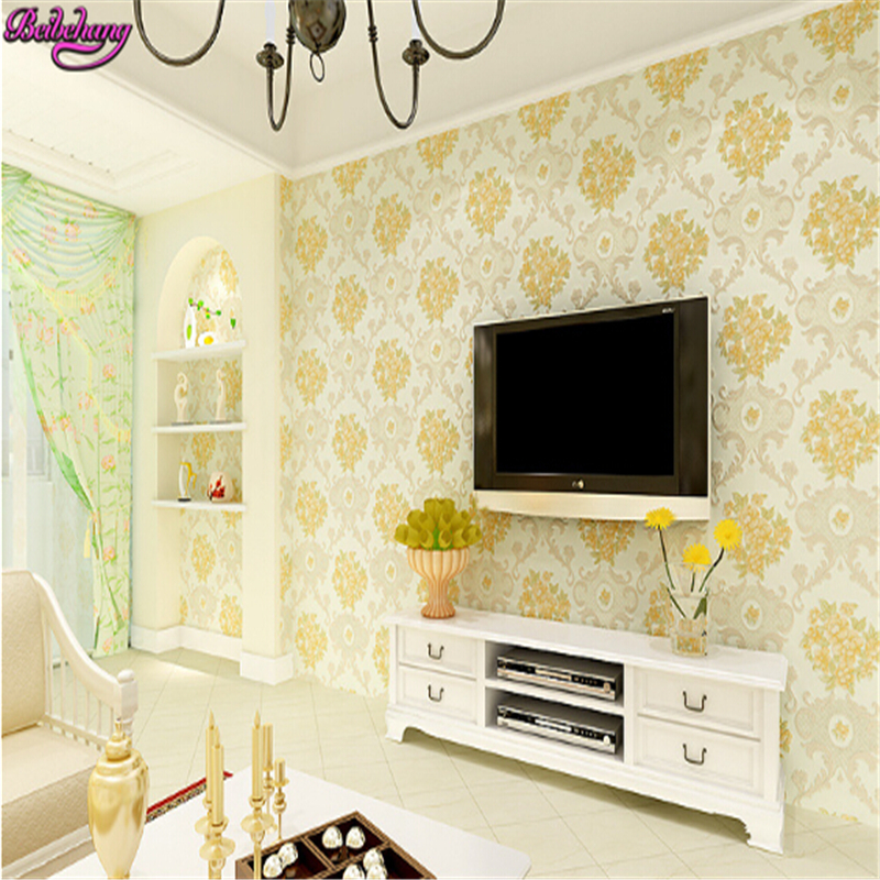 beibehang European three-dimensional non woven garden flower wedding room full bedroom living room wallpaper papel de parede beibehang wallpaper 3d three dimensional relief korean garden flower large open living room bedroom full shop wallpaper backdrop