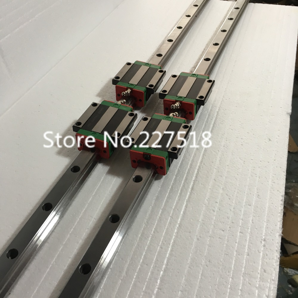 25mm Type 2pcs  HGR25 Linear Guide Rail L1200mm rail + 4pcs carriage Block HGW25CC blocks for cnc router25mm Type 2pcs  HGR25 Linear Guide Rail L1200mm rail + 4pcs carriage Block HGW25CC blocks for cnc router