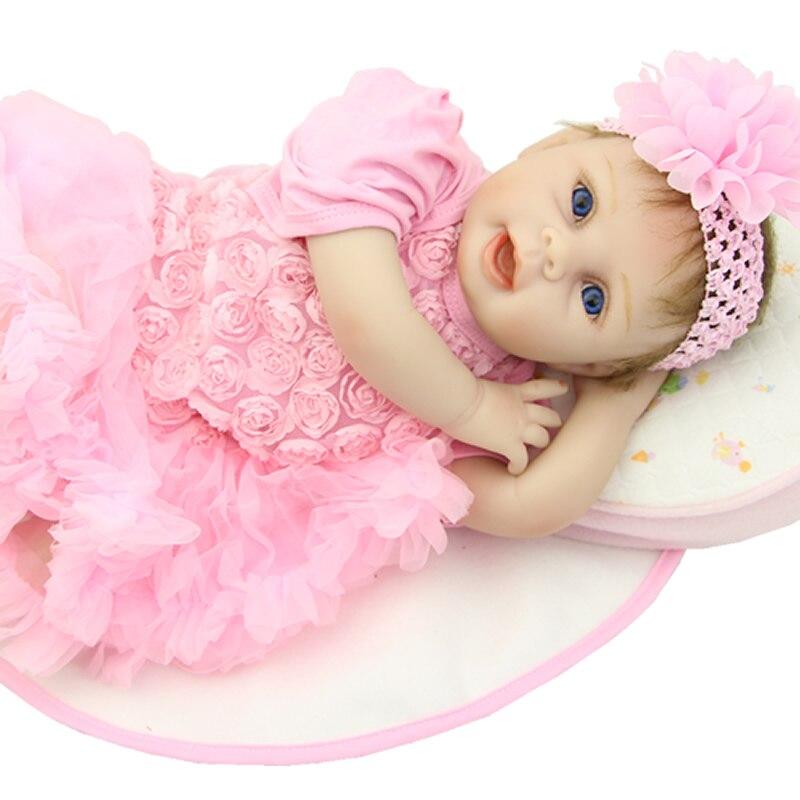 So Truly Real 22 Inch Silicone Baby Dolls Cloth Body Soft Lifelike Newborn Reborn Babies Children Birthday Xmas Gift