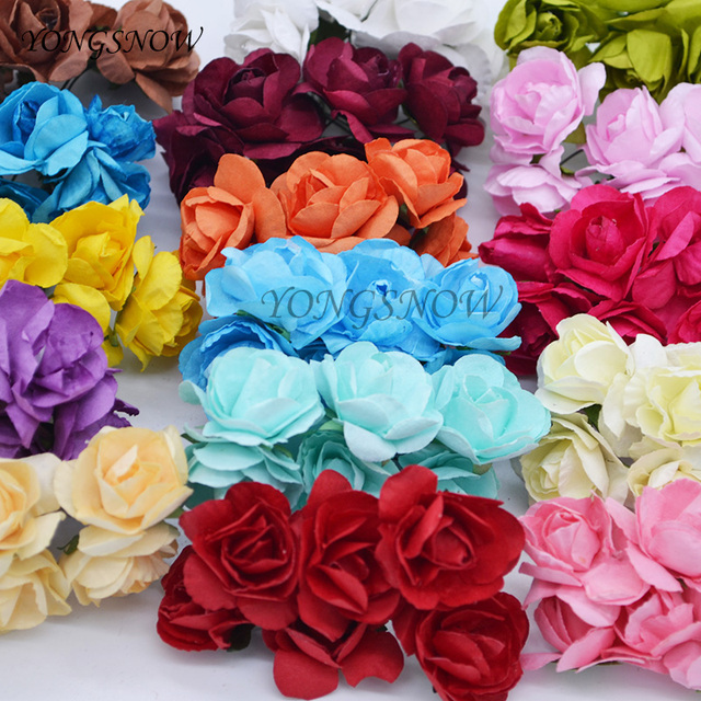 Aliexpress buy 24pcs 3cm artificial azaleas paper flower 24pcs 3cm artificial azaleas paper flower wedding decoration diy craft rhododendron fake flower rose wreaths home mightylinksfo