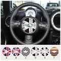 Автомобиль стайлинг Рулевого колеса Центр Юнион Джек Флаг Самоклеющиеся Виниловые Наклейки для MINI Countryman