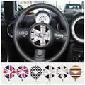 Car styling volante Centro de Union Jack de La Bandera de Vinilo Autoadhesivo Pegatinas de Coches para MINI Countryman