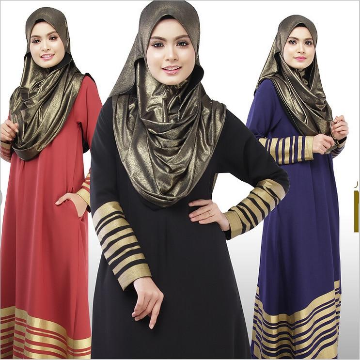 New Muslim Womens dress Floor Length font b Islamic b font font b Abaya b font