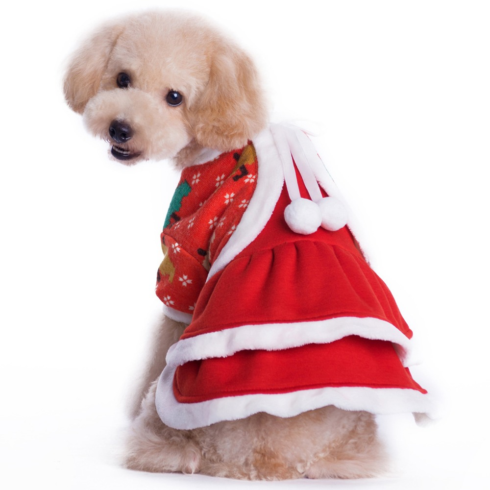 Aliexpress.com : Buy Cute Red Dog Clothes Christmas Pet ...
