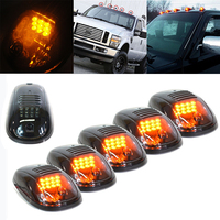 Mayitr 5PCS LED Smoked Amber Cab Roof Top Marker Light Running LED Lamp For Truck SUV