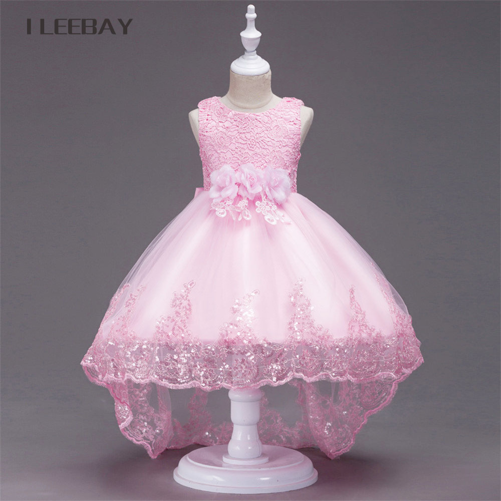Flower Girl Princess Dresses For Wedding Children Party Tulle Tutu Dress Kids Clothes Infant Sleeveless Trailing Costume Vestido girl dress 2 7y baby girl clothes summer cotton flower tutu princess kids dresses for girls vestido infantil kid clothes
