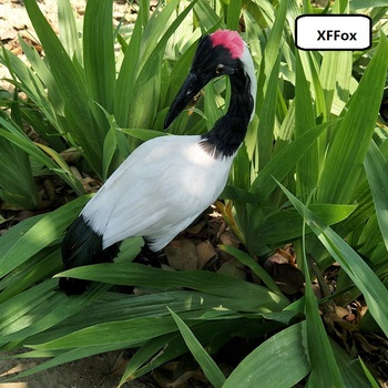 new simulation Red-crowned crane model foam&furs real life crane bird doll gift about 30cm xf1089