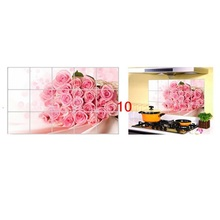 Free Shipping 75cm*45cm Various Korea High-grade Aluminum Copper Waterproof and Oil Sticker Kitchen Wall Stickers For Home Decor