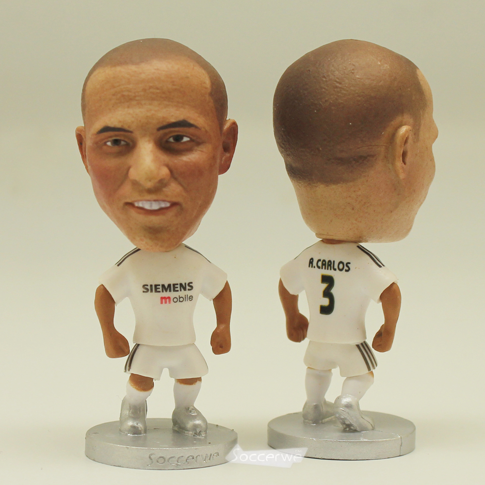The classic football star Soccer Player Star 3# R.CARLOS (RM-2005) 2.5 Toy Doll Figure Best Fan gift