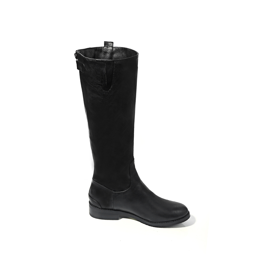 Bas Mode Hiver De Noir Qzyerai La Femmes Veau 2018 Chaussures Sexy Arrivée marron Bottes Zipper Et À Style Nouvelle rxWBoCde