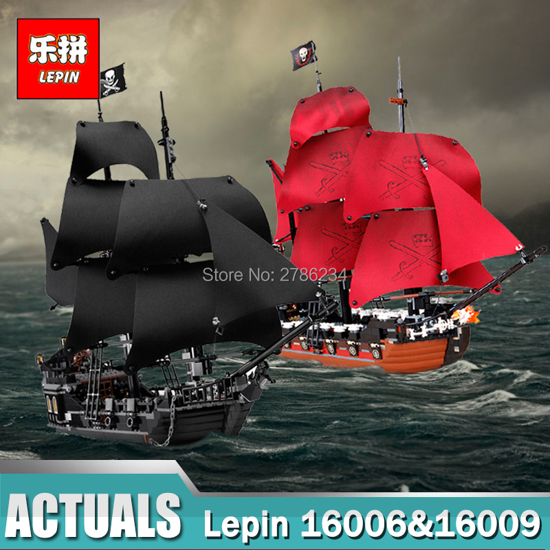 Lepin 16006 & 16009 Pirates of the Caribbean The Black Pearl Pirate Ship Set Building Blocks Toys for Children Legoing 4195 4184 lepin 16006 804pcs building bricks blocks pirates of the caribbean the black pearl ship legoing 4184 toys for children gift