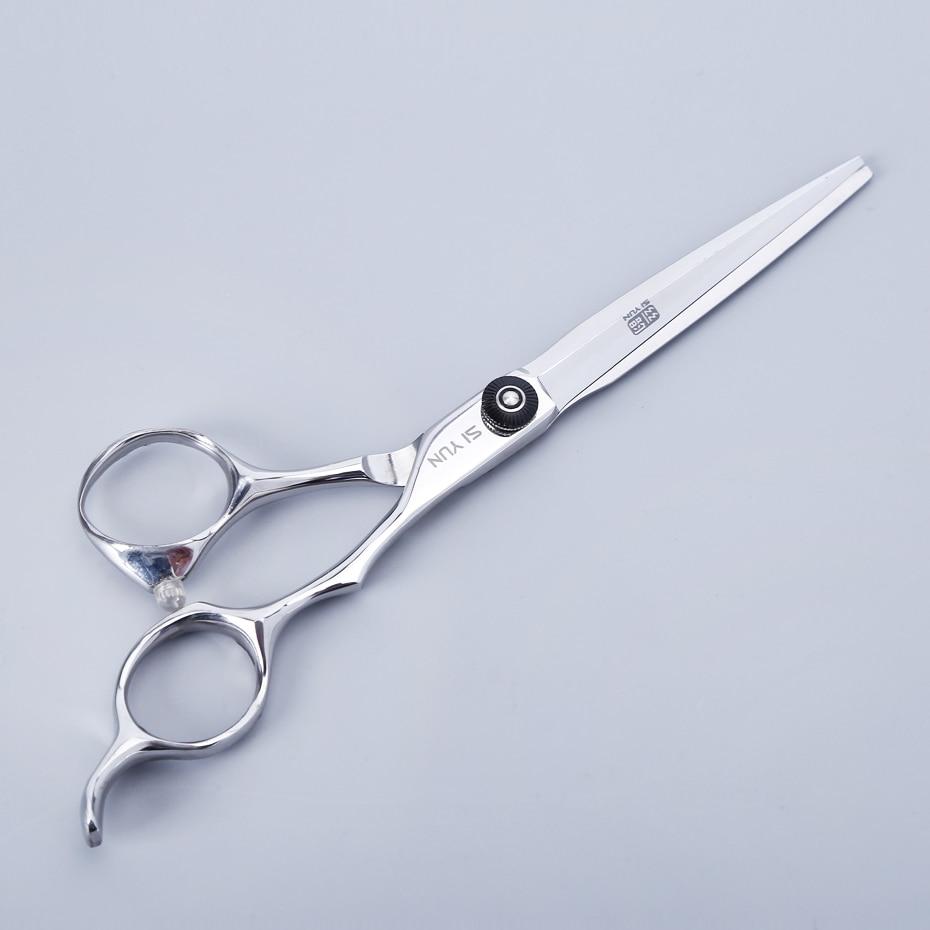 SI YUN 6.0 pulgadas (17.50 cm) Longitud BP60 Modelo de hoja de espada Tijeras profesionales para cortar el cabello Tijeras de alta calidad