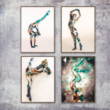 Watercolor Naked Sexy Women Nude Yoga Girl Wall Art Canvas Painting Nordic Poster And Prints Pictures For Living Room Decor