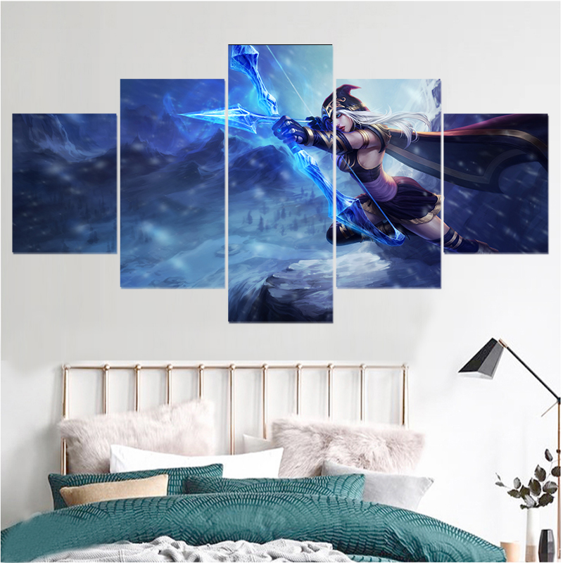 AuBergewohnlich 5 Panel Game Leinwand Drucken LOL League Of Legends HD Malerei Wohnzimmer  Wandkunst Dekoration Bilder Kunstwerk Poster