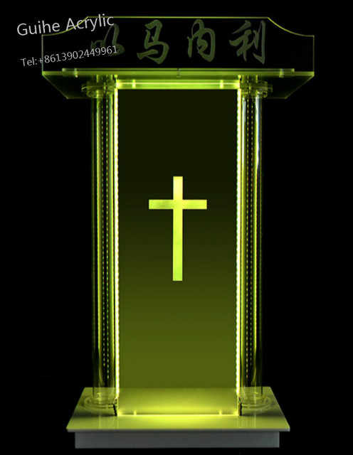 Customized Acrylic Podium Lecture Speaker For Church Wholesale Price 1