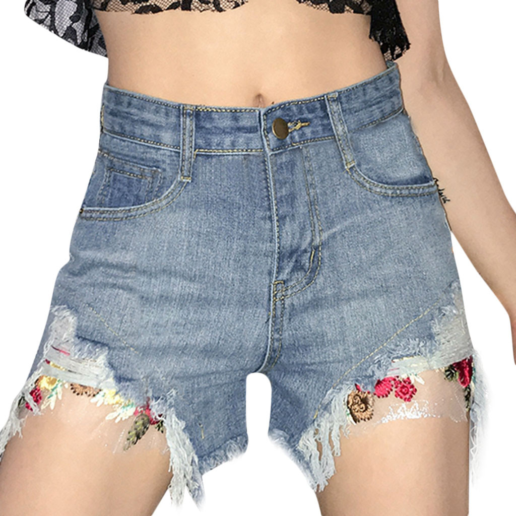 FREE OSTRICH Hot Women Summer Casual Short Jeans Denim Female Pockets Wash Denim Shorts Fashion Women Shorts 2019 New Arrivals