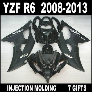 Glossy black motorbike fairing for YAMAHA R6 08 09 10 11 12 13 fairings 2008 2009 2010 - 2013 YZF R6 fairing kit 7 gifts YHU86
