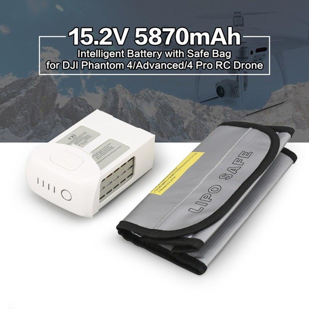 Intelligent LiPo Batterie 15.2 v 5870 mah De Rechange air Vol Remplacement pour DJI Phantom 4/Avancé/4 Pro FPV RC Drone avec Coffre-Fort Sac