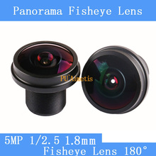 PU`Aimetis CCTV lens 1/2.5 1.8mm 180 degree 5MP CCTV MTV Board Lens Fisheye Lens for Security CCTV Video 1080P IP camera