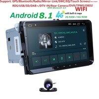 Android8.1 автомобиля gps навигации для skoda V W volkswagen amarok Жук Бора caddy CC EOS j etta мужские поло кролик sharan 2 г CAM