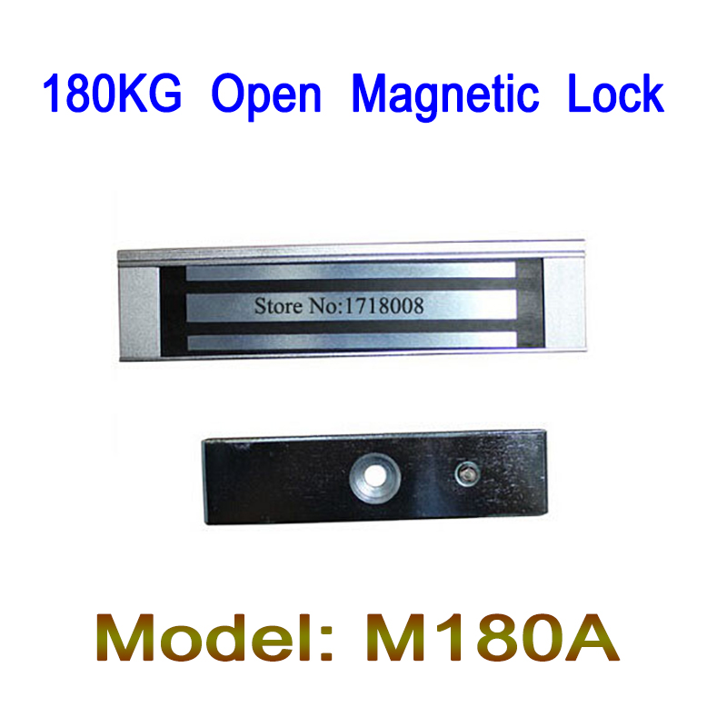 M180A 180KG (350LB) Holding Force Access Control Single Door 12V Electric Magnetic Electromagnetic Open Lock 5 packs 180kg 350lb 12v electro magnetic door lock holding force access control
