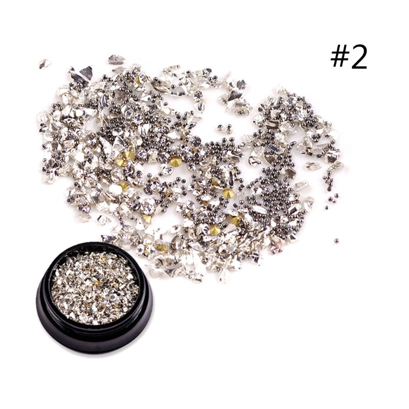 Fashion 3D Metal Nail Art Decoration Nails Sticker Decal Tips DIY Tools in Rhinestones Decorations from Beauty Health