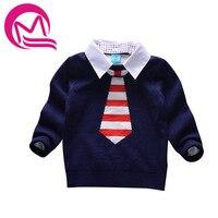 Miqi 2017ボーイズセーター子供服厚みのタートルネックセーターラペルプルオーバー男の子服ニットウール綿のため子供