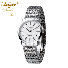 Onlyou Luxury Brand Lovers Watches For Women Men Stainless Steel Wristwatches Fashion Business Watch Female Male