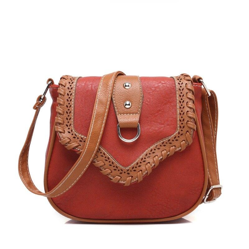 2016 Einfache Mode Handtaschen Frauen Tasche Qualität Pu Leder Frauen Tasche Hülle Mini Paket Weiblichen Beutel Stricken Schulter Messenger